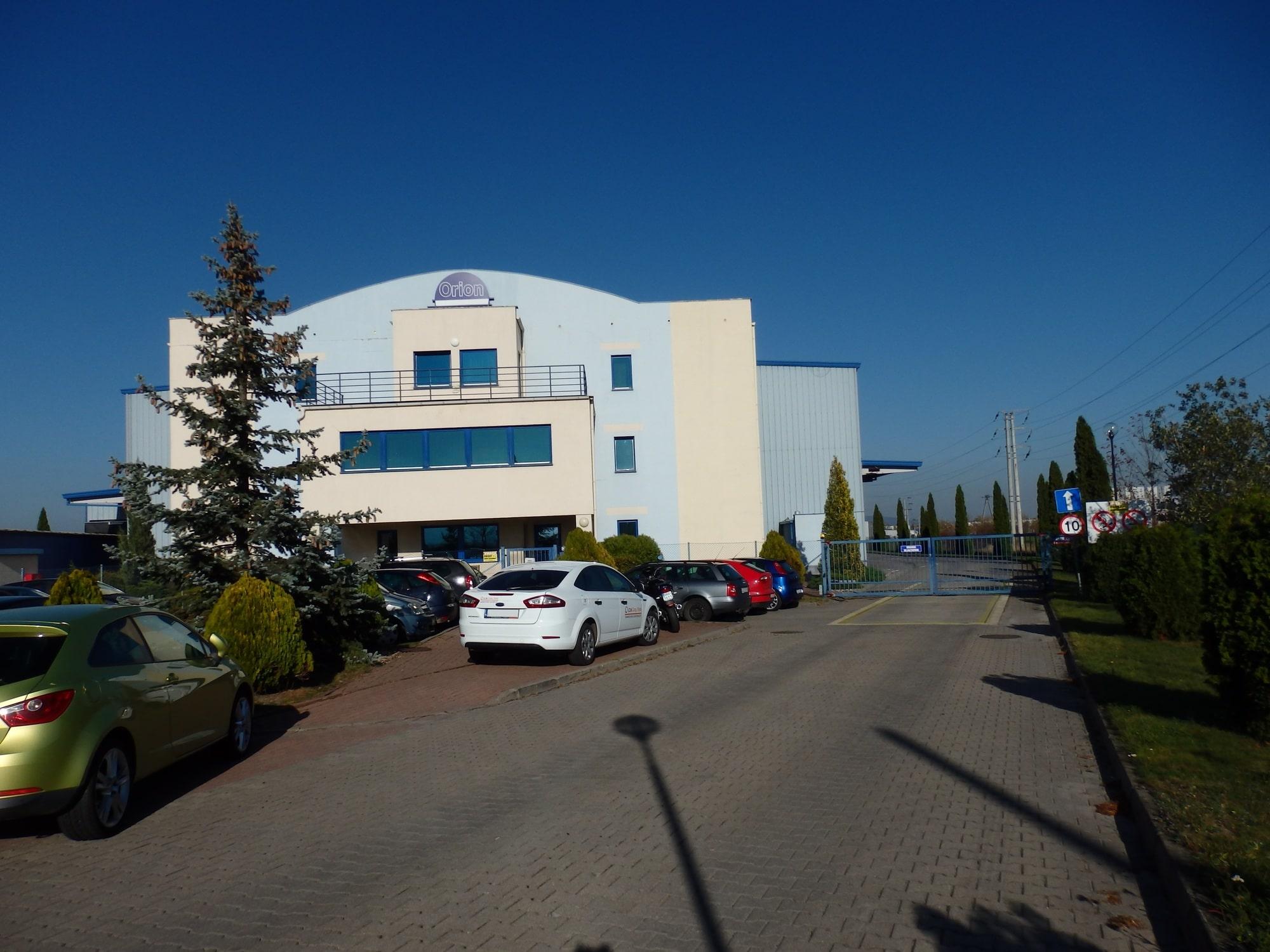 Siedziba Orion PU Sp. z o.o. w Dzierżoniowie